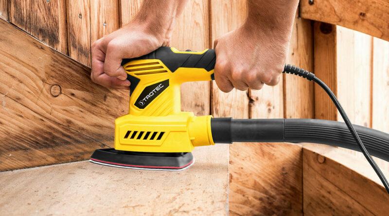 ponçeuse à bois jaune